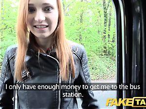 fake cab slim ginger-haired likes rough fuckfest