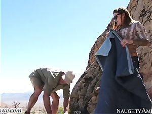 wild bitch gets smashed in the mountains with hooker