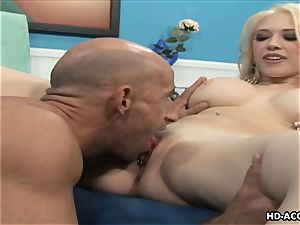 Smoking super-fucking-hot ash-blonde with ample baps gets smashed hard