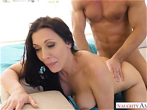 Rachel Starr juggles her humid cooter on Johnnys firm man meat