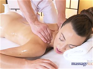 massage apartments hot thin brown-haired gives pov oral job