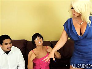 Alura Jenson gets a bit horny and begins to slap