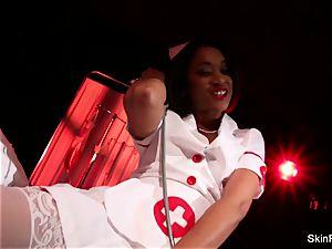 super molten nurse flesh Diamond gives a killer tease
