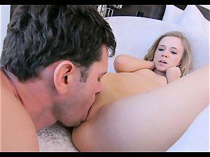 big cock polishing into little Rachel James