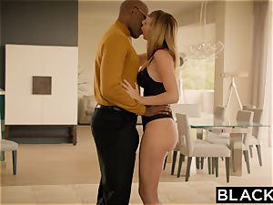 BLACKED Brett Rossi frightened From Her Ex thick black chief Protects Her