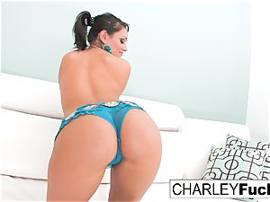 Charley chase undresses off her marvelous garb and opens up