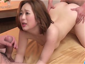 Doremi Miyamoto sultry lovemaking With 2 wolves