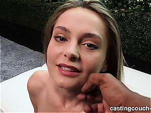 sizzling multiracial audition with a 19-year-old bi-atch