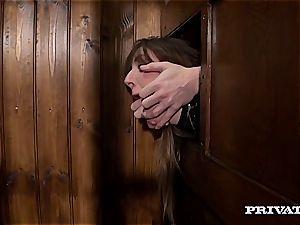 Samantha Bentley pummeling the priest
