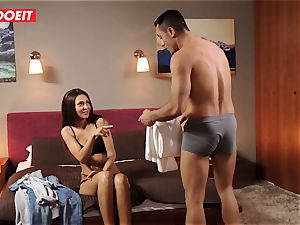 euro nubile Gets Help and humungous shaft from Stranger