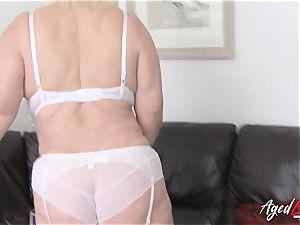 AgedLovE buxomy Lacey Starr hard-core and fellatio