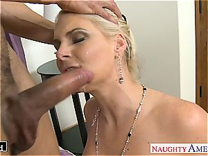 fashionable Phoenix Marie takes salami in her shaved fuck hole