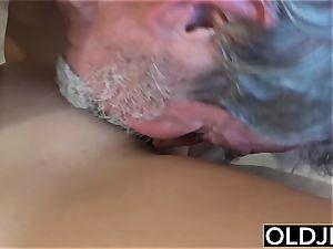sexy nubile maid porked b gross older grandpa