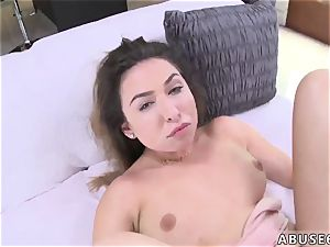 hard-core tonguing and raunchy group This fuck-fest fiend gets on her knees and gives a