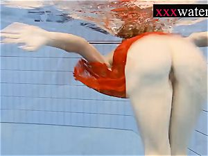 wonderful super-fucking-hot doll swimming in the pool