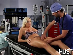 jaw-dropping Britney Amber penetrated during doctors exam