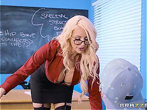sex-positive teacher Nicolette Shea shagged by a bad student