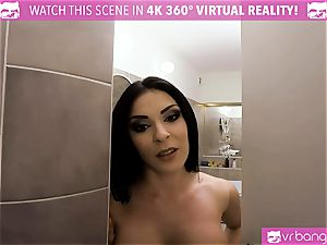 VR pornography - Got Caught While Spying on my Stepsister