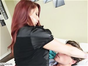 youthful sly dude gets disciplined by mature Monique Alexander
