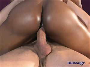 rubdown rooms spurting orgasm for steamy black female