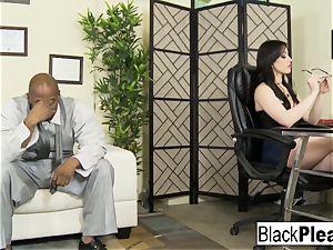 She receives an bi-racial internal cumshot