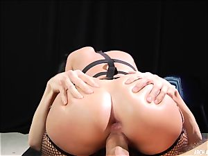 domination & submission pornography. Jada Stevens gets her caboose double boinked in a dark cellar