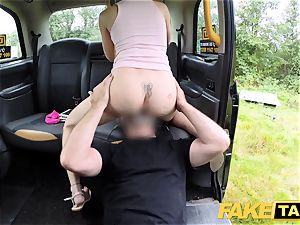 fake taxi Skipping college for backseat fuck-a-thon in taxi
