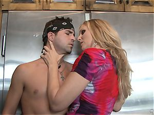 Julia Ann gets her mitts on a toyboy wood for boink joy