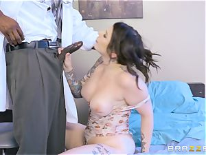 Monique Alexander and Ivy Lebelle riding the physician