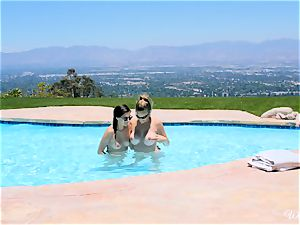 Shyla Jennings and Ryan Ryans after pool twat party