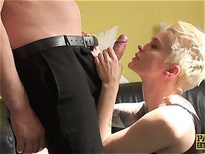 british mega-slut butt-fucked harsh until cuminmouth