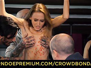 CROWD bondage smallish marionette nymphomaniac fetish gang fuckfest