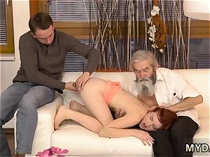 senior stunning grandmother and sugar daddy hardcore unexpected experience with an aged gent