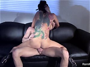 luxurious Romi Rain taunts and then gets porked rock hard