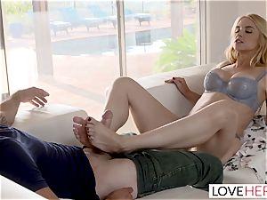 LoveHerFeet Caught jacking Off By super-naughty Stepmom