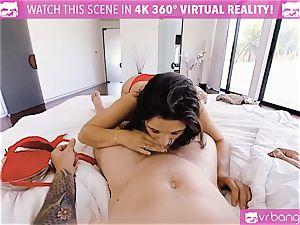 VR porno - big-boobed Abella Danger audition bed get super-naughty