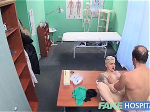 fake medical center Flirty inked minx demands fast hump
