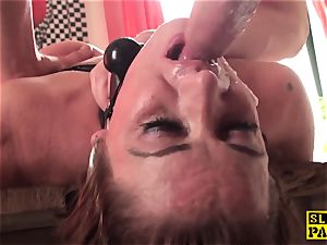 sandy-haired british marionette assfucked and roped