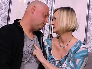 xxx OMAS - sloppy mature bang with newcomer German blondie