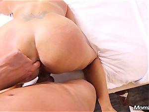 wild sunburn cougar smashes guy in motel