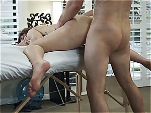 Leah Gotti kneaded and fucked by Ryan