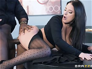 interracial cunt shag with phat congenital milk cans Angela milky