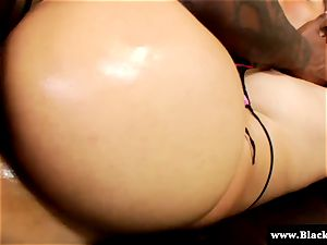 Rampant babe Aria ravaged in taut rump and she moans