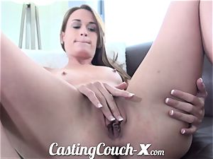 audition Couch-X Georgia peach exhilarated to do pornography for $