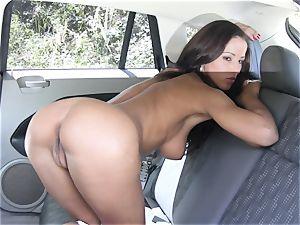 Angel Dark nude back seat getting off
