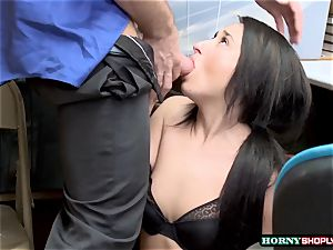 Latina Isabella nice gets caught and torn up her raw cootchie by Officer