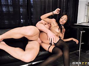 killer stunner Anya Ivy fucked testicles deep on her meeting
