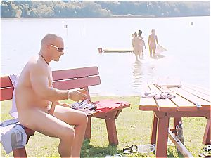 lucky stud having a supreme time at the lake pt three