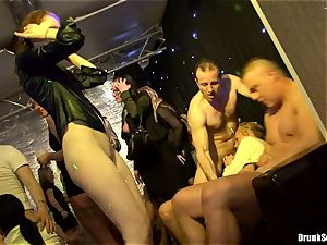 Bibi Fox with ultra-cutie buddies packed with red-hot jizz