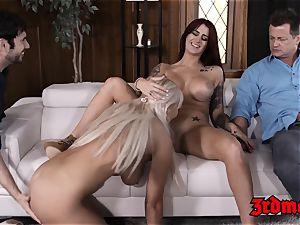 sugary honey Britney Amber fed cum in mesmerizing orgy